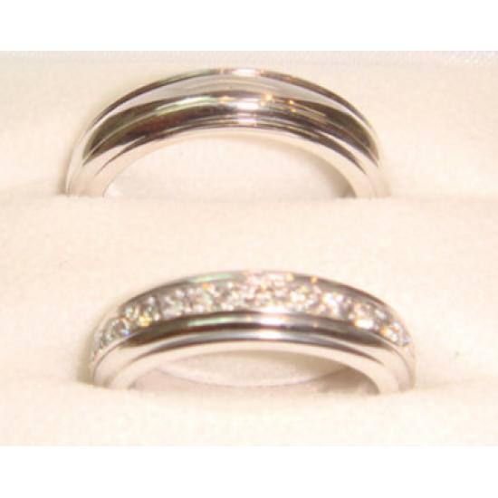 Diamond free wheel ring, White or Yellow gold on Demande