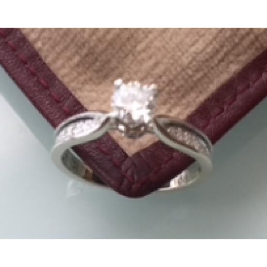 Diamond Ring center 0.40ct (G.VS) + around 0.18ct