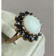Opal ring with saphirs
