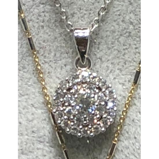 Pendant in White gold and Diamonds