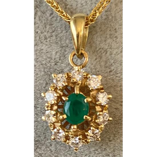 Pendentif avec Brillant et Diamants