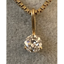 Pandent with Diamond 0.39ct H.SI