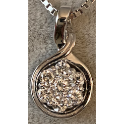 Pendant with Diamonds and white Gold without chaine