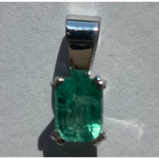 pendant Emerald White Gold