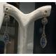 Pendant Earrings with Ceylan Saphir and Diamonds