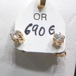 Boucles d'oreille or Blanc Brillants
