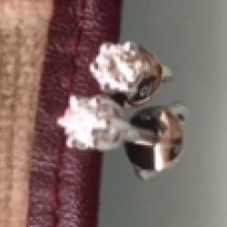 Boucles d'Oreilles en or gris avec Brillants