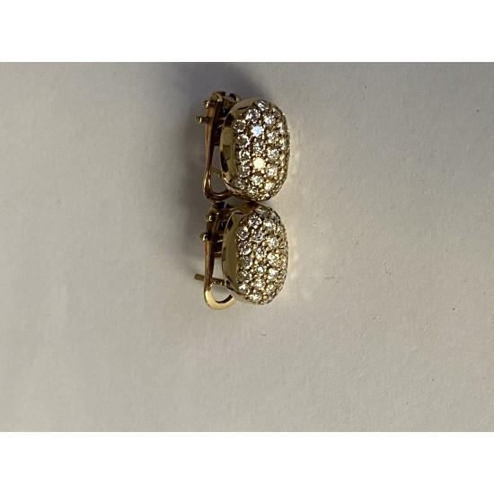 Boucles d'oreilles clip en or avec Brillants